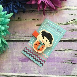Handmade Embroidered Felt Hair Clips